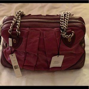Marc Jacobs lavender bowler calf leather bag